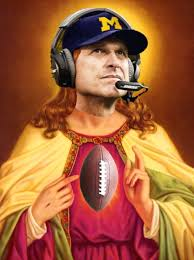 Harbaugh as god